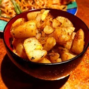 Spicy Potatoes in a bowl