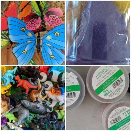 Making a Sand Terrarium or Fairy Garden for Kids - supplies