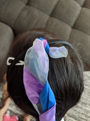 "Ribbon ""Hair"" Braid Headband - braided headband on a child's head"