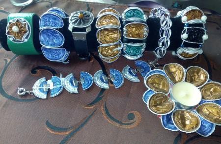 Jewelry Made from Nespresso Coffee Cups - bracelets