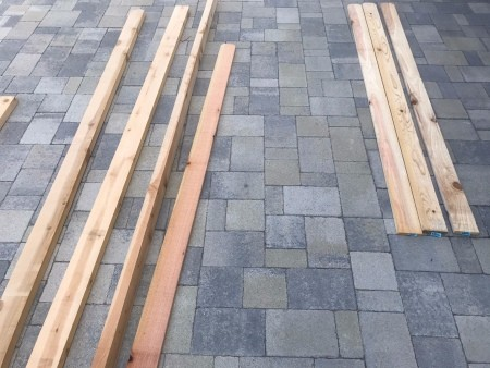 Galvanized Roofing Raised Bed - lengths of wood and fencing