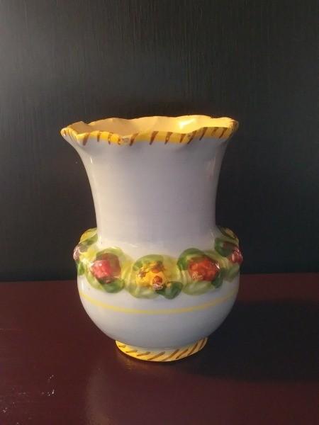 Value of Ceramic Vases - white vase with raised flower pattern