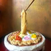 Gravity-Defying Ramen Cake - finished cake