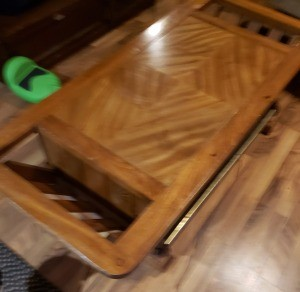 Value of a Mersman Coffee Table - table with built in magazine racks