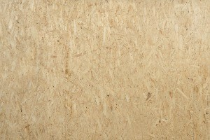 Plywood being used for flooring.