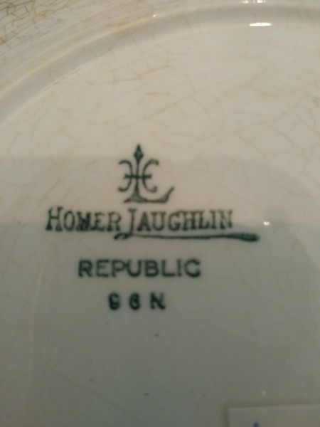 Value of a Homer Laughlin Plate