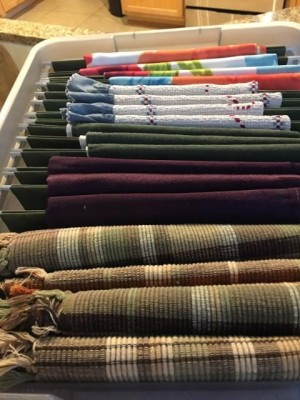 Placemats in hanging file box