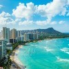 A view of Waikiki Beach, Oahu, Hawaii.