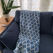 Washing a Sunbeam Heated Blanket - blue and white heated throw