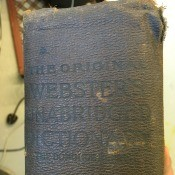 Value of an 1847 Webster's Dictionary  - top of book spine