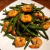 Chinese Shrimp and Green Beans on plate