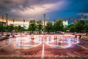 Centennial Park in Atlanta, GA.