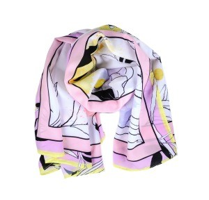 Silk scarf on white background.