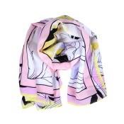 Silk scarf on white background.