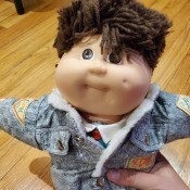 Value of Cabbage Patch Kid Dolls - boy doll in denim