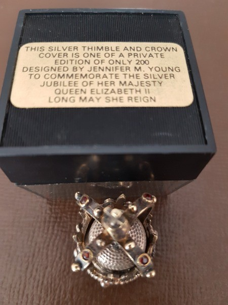 Value of a Silver Thimble with Jeweled Crown