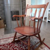 Value of a Conant Ball Co. Rocking Chair - wooden rocker