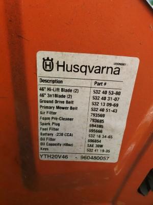 Husqvarna Rider Won't Start - lable
