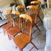 Value of Conant Ball Dining Chairs - medium wood finish dining chairs, all armless