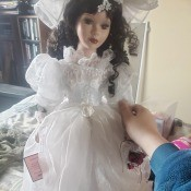 Information on a Goldenvale Porcelain Wedding Doll - doll in bridal dress
