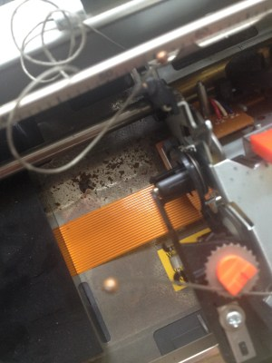 Repairing a Silver Reed EZ20 Electric Typewriter? - view of the inside of the typewriter