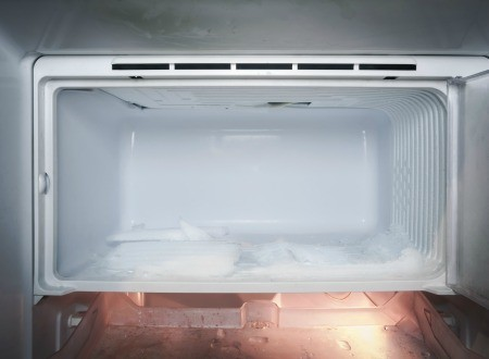 A clean, empty freezer.