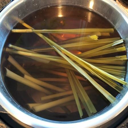 Lemongrass ginger tea in an Instant Pot.