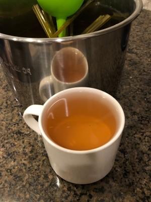 A cup of lemongrass ginger tea.
