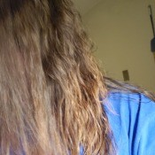 Areas of Permed Hair Straight After a Few Days - view of straight area of long hair