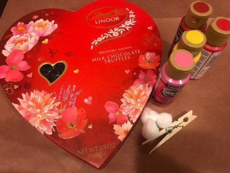 Upcycled Valentine's Candy Box Birthday Gift - supplies