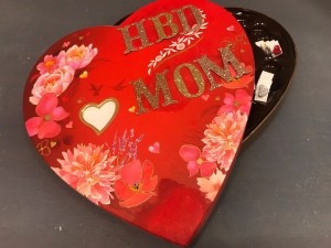 Upcycled Valentine's Candy Box Birthday Gift - finished birthday gift box
