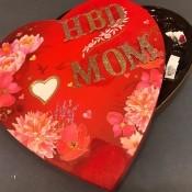 Upcycled Valentine's Candy Box Birthday Gift - finished birthday gift box