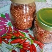 A jar of chili powder.