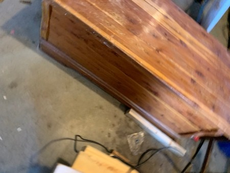 Age and Value of a Murphy Cedar Chest? - chest in a garage or workshop