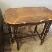Value of a Mersman Table? - 6 legged rectangular table with dark wood legs and a lighter wood top