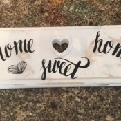 Recycled Dresser Drawer  Decorative Sign - finished sign with decals