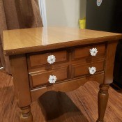 Value of a Mersman 22-32 End Table? - medium finish end table with drawer