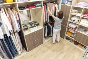 A very organized closet