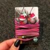 DIY Earbuds Holder - buds secured to card