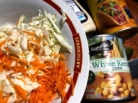 Ingredients for Mexican Coleslaw.
