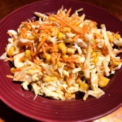 A plate of Mexican Coleslaw.