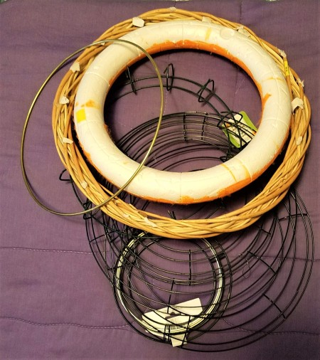 Hanger, Clips, and Rings for Craft Storage - wreath forms and hoops