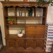 A wooden cabinet.