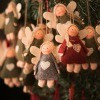 Handmade angel ornaments for sale.