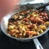 A completed pan of the Poorman's Meal.