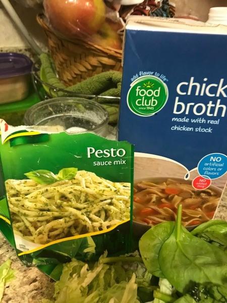 More ingredients for chicken pesto pasta.