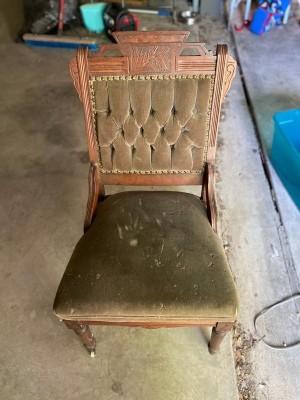 An antique chair.
