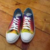 Five Step Tie Dye Sneakers - finished sneakers