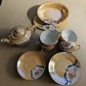 Value of a Japanese Tea Set? - tea pot and cups and saucers