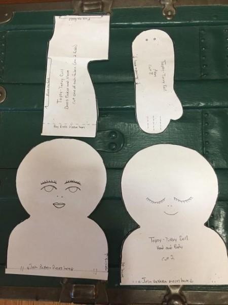 Topsy Turvy Cinderella Doll - paper patterns for dolls